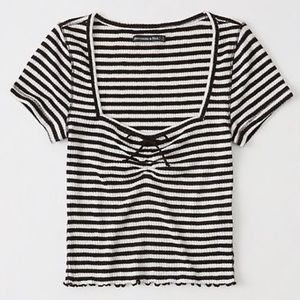 A&F striped crop top